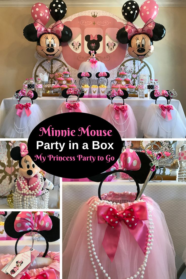 Boutique Party Supplies at Bargain Prices. Save 40% Today. Say Cheers We've Got Ears! Minnie Mouse Party in a Box is so cute. Visit us today for details at www.myprincesspartytogo.com #minniemouse