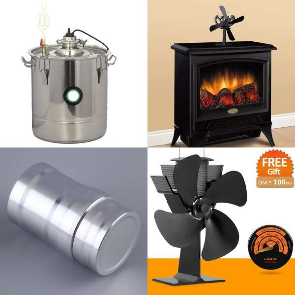 No Electronic Needed Aluminum Heat Powered Stove Fan Fireplace Fan