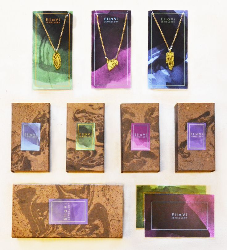 EllaVi jewellery collection with beautiful packaging.