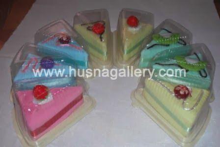 souvenir pernikahan handuk Towel Cake Slice