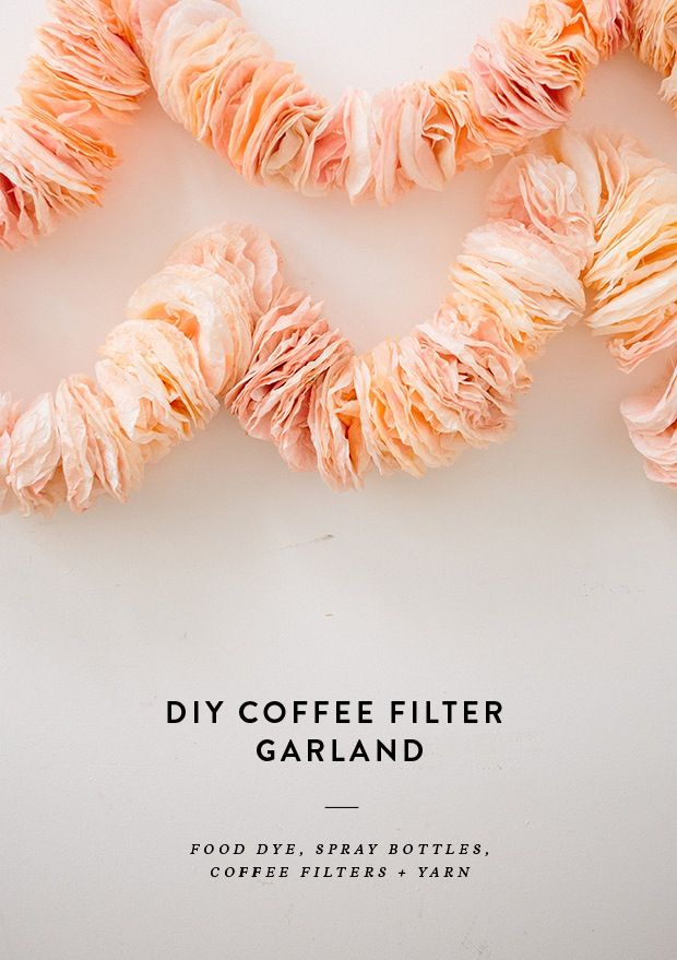 DIY Coffee Filter Garland | 31bits.com