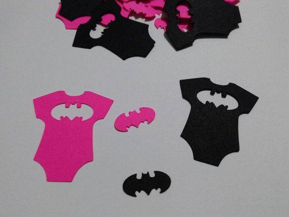 Baby Batgirl party confetti  the dark knight baby shower