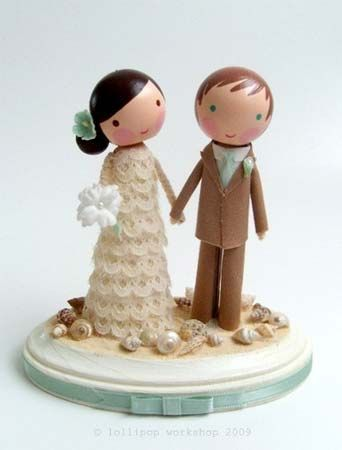 Custom Made Lollipop Workshop Wedding TopperBeach Cake