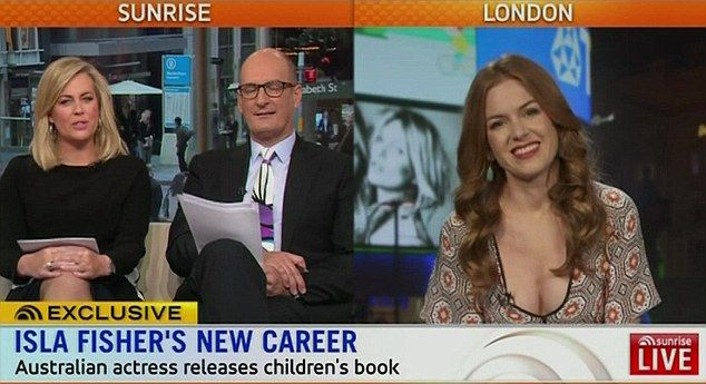 Isla Fisher was not in the mood for discussing her own marriage to comedian Sacha Marge in ChargeBaron Cohen during an appearance on breakfast TV show Sunrise promoting her new children's book