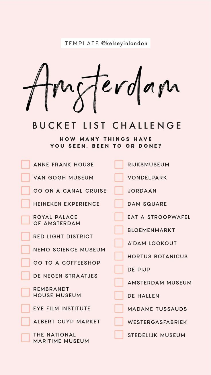 Top things to do in Amsterdam – Amsterdam Bucketli…