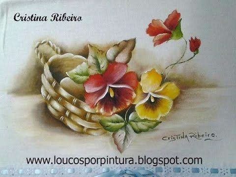 Como pintar cesto de amor perfeito com folhas envelhecidas. Primeira parte: pintando o cesto. - YouTube
