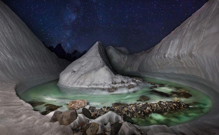 Drone Discovers Stunning Glacier Scene Hidden in the Himalayas - My Modern Met