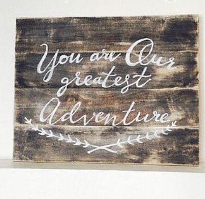 Cute Wood sign