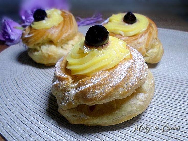 Le Zeppole di San Giuseppe, ricetta di Montersino sono un tipico dolce, fritto o al forno, che viene preparato solitamente il 19 Marzo. Questa è la variante