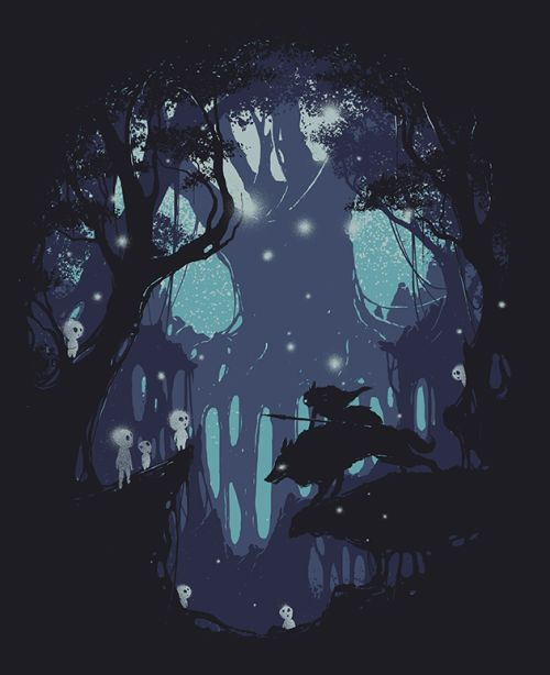 Kodama Spirit: Chosen to be printed and available on Threadless. Shop!