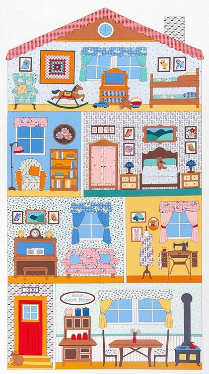 Robert Kaufman Fabrics: Penny's Dollhouse by Darlene Zimmerman -- the panels and coordinating fabrics are in stock now 4/20/15