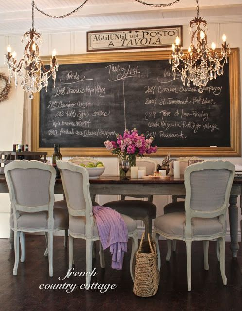 I love this dining room. I'm going to put 2 chandeliers above my table!