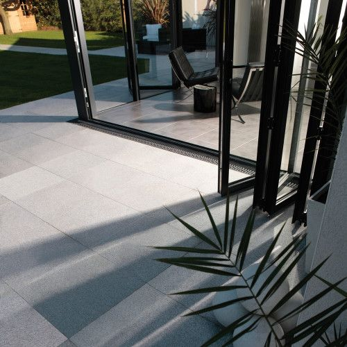 StoneFlair by Bradstone, Natural Granite Paving Silver Grey 300 x 300 - 80 Per Pack