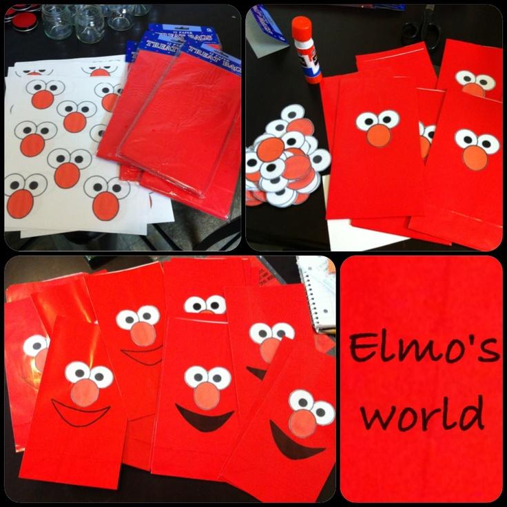 DIY Elmo Party Bags Theme Pinterest