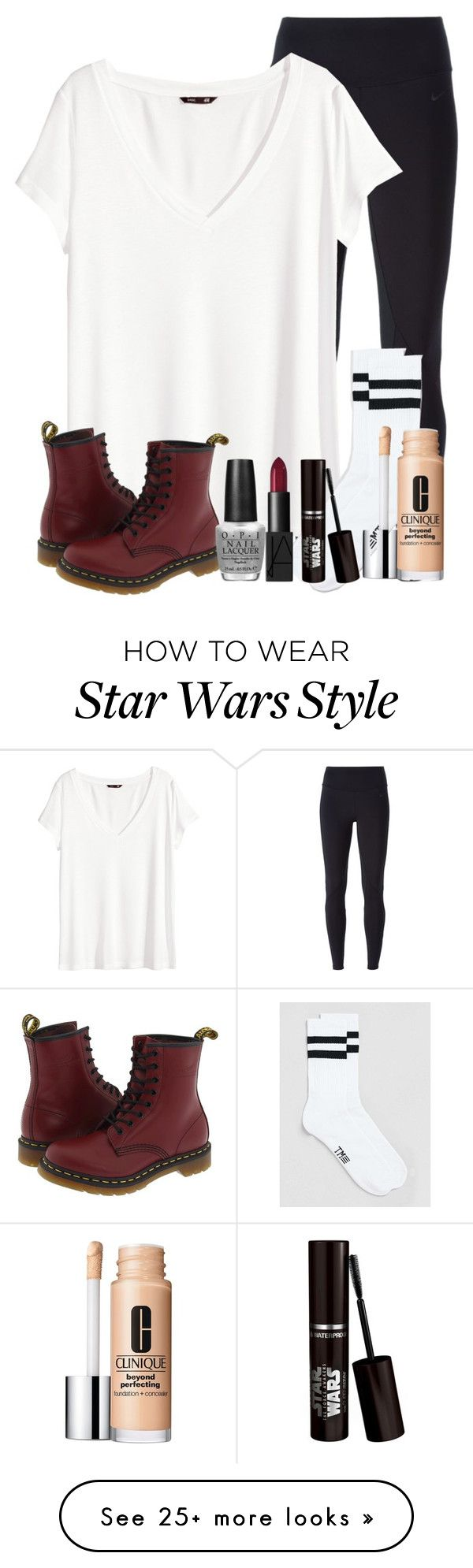 """casual"" by bradey-5 on Polyvore featuring NIKE, H&M, Topman, Clinique, Dr. Martens, OPI and NARS Cosmetics"