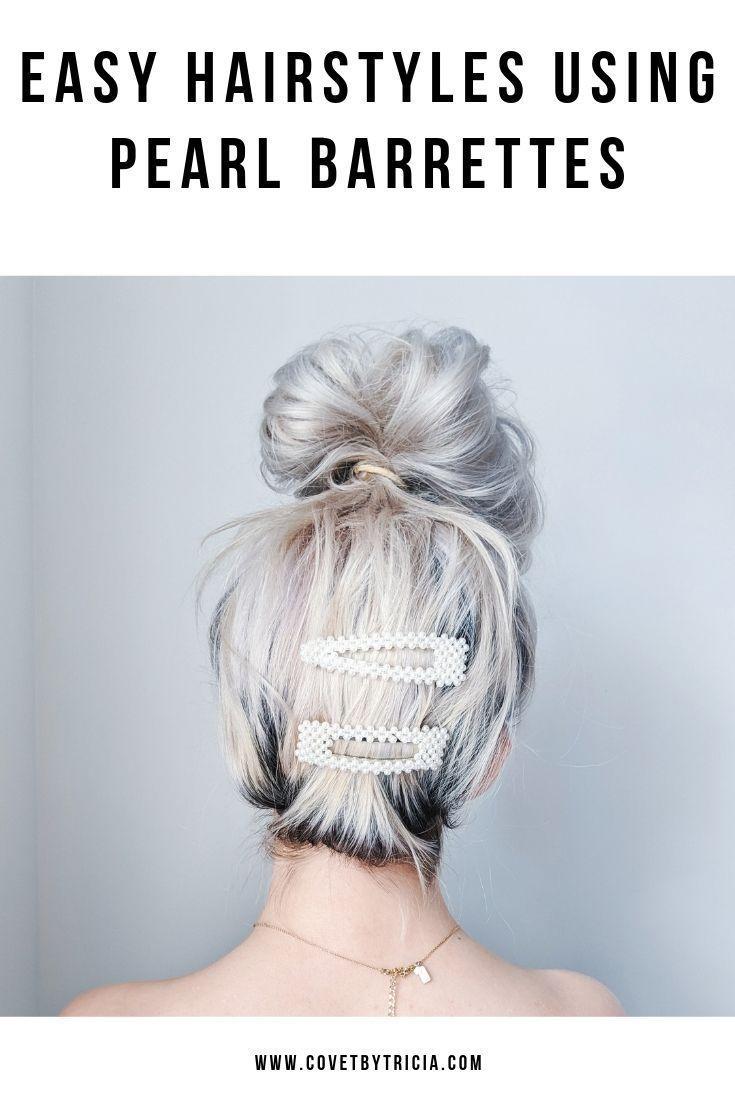 Jasmine Pearl Hair Clip Set Kamakula Beaded Hair Clips Hair Beads Hair Barrettes