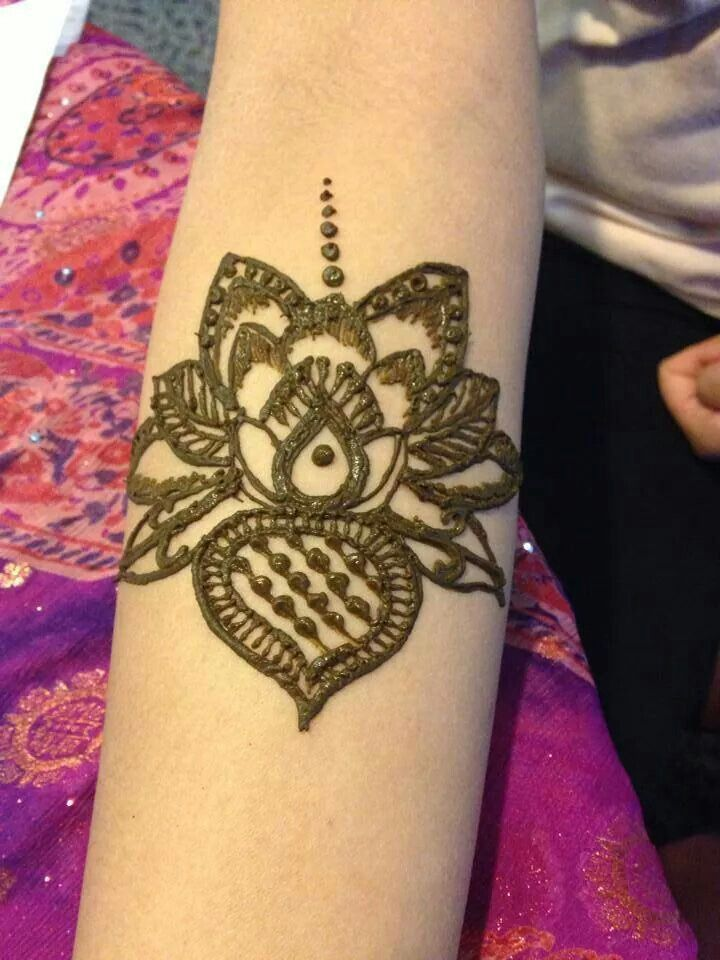 Lotus flower henna design temporary tattoo. | The Henna ...