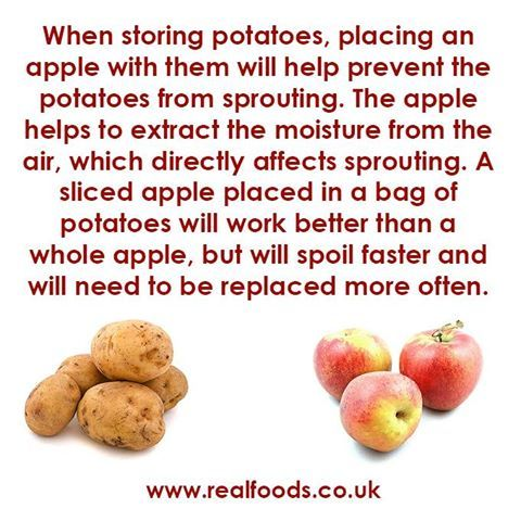 how to keep potatoes from sprouting
