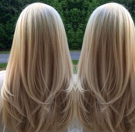 Stufenschnitt Lange Haare Hinten Girl Stuff Hair Hair Styles