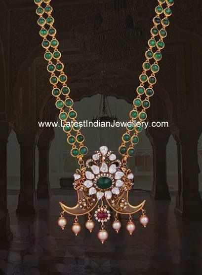 Emerald Haram with Puligoru Pendant: