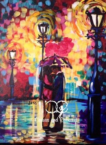 'Kissed in Color' at Canvas and Cabernet!  Check out the calendar to sign up for the next available class!  You may wanna hurry because spots fill up quickly!