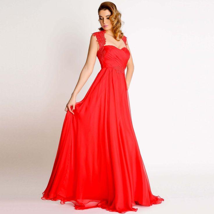 Alege aceasta rochie de seara Anemona si te vei simti speciala! Croiul lejer care te indeamna sa dansezi toata noaptea este facut special pentru tine!