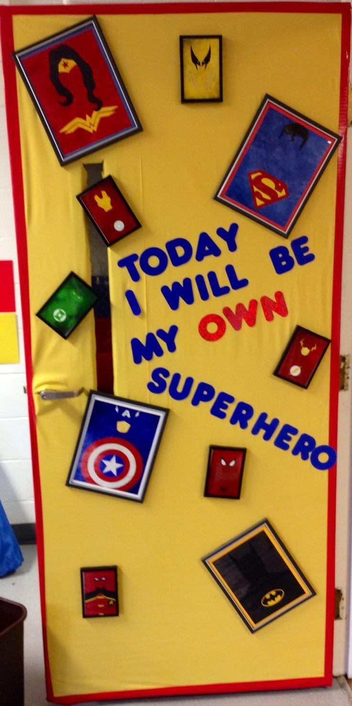 Superhero door superhero pinterest superhero doors for Decoration chambre super heros