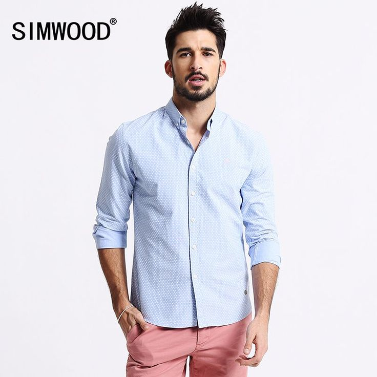 2016 New Arrival Simwood Men Clothing Shirt Long sleeved Polka Dot Casual  http://mobwizard.com/product/2016-new-arrival-sim32635602887/