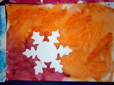 Προσχολική Παρεούλα : Χιονονιφάδες !!! Τεχνικές ζωγραφικής