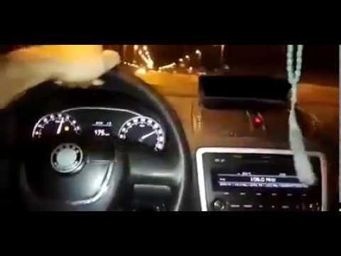 Accident live la 180 km/h cu o Skoda Octavia