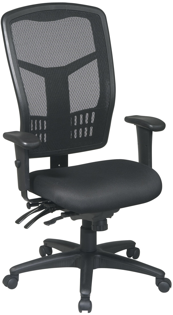 Black High Back Executive Office Chair with 2 Way
