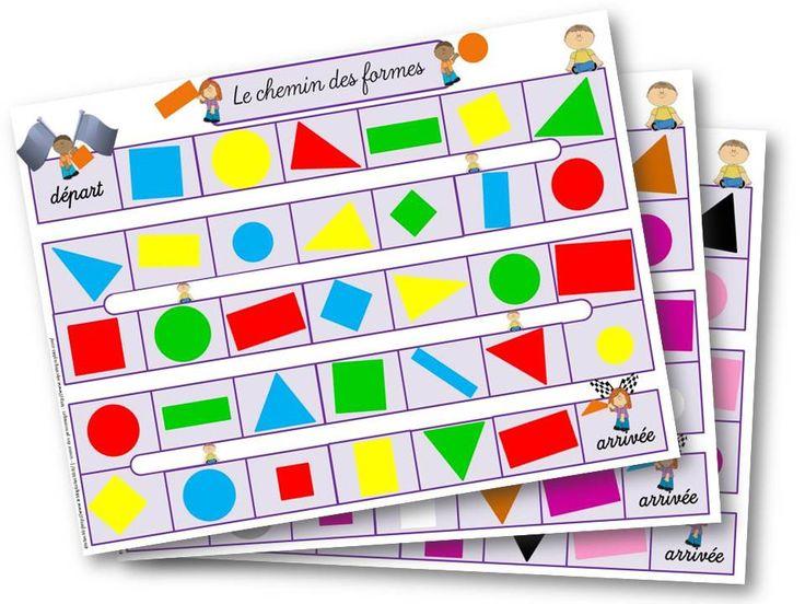 le jeu des formes pour travailler les formes planes MS/GS