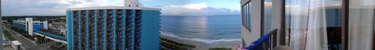 View of the beach from the balcony. The Palace Resort in Myrtle Beach,SC