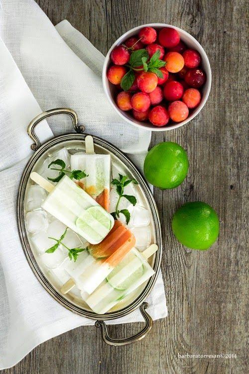 ghiaccioli cocco, lime, anguria, limone
