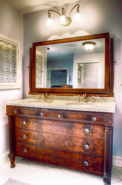 13 Awesome Bathroom Vanities Made From Old Dressers Foto Idea