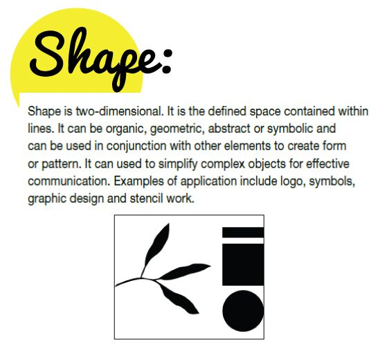 Shape As An Element Of Art : Best images about elements and principles of design on