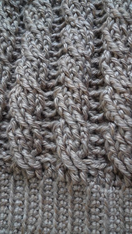 Cabled beanie free crochet pattern - could also use this stitch for boot cuffs or leg warmers.
