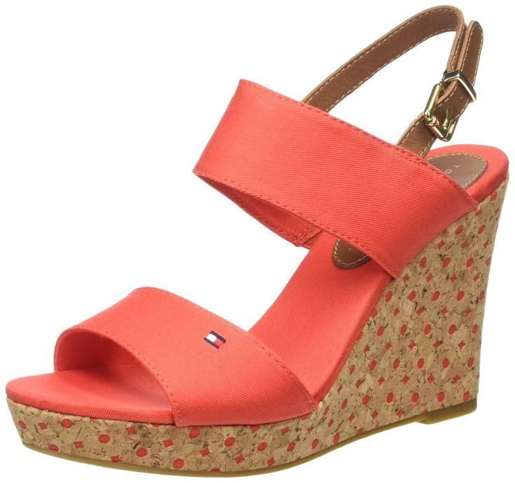 Tommy Hilfiger E1285DEL 3D Damen Plateau Sandalen mit Keilabsatz: Amazon.de: Schuhe & Handtaschen