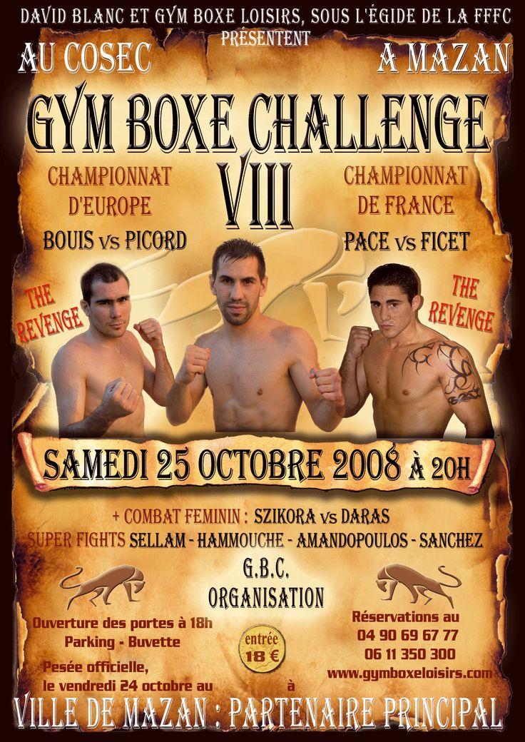 #GymBoxeChallenge VIII Fullcontact 2008 Championnat d'Europe Mazan