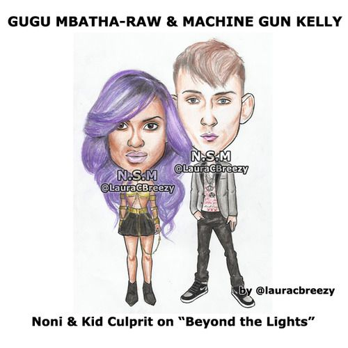 gugu mbatha and machine gun