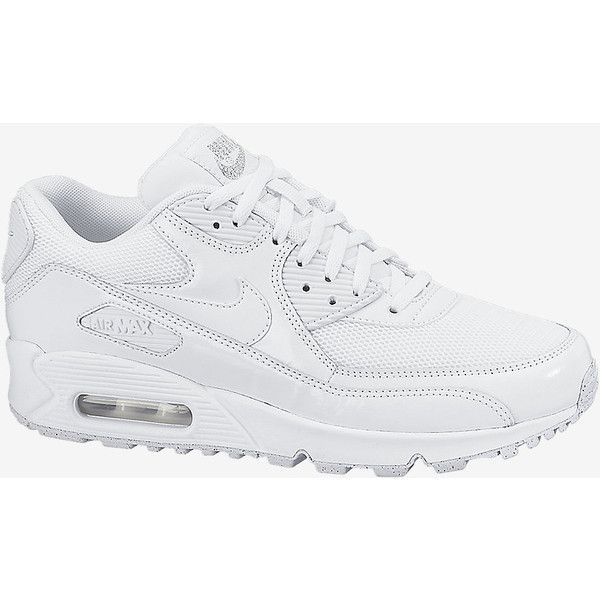 Nike Air Max 90 Premium Women's Shoe (3.415 UYU) ❤ liked on Polyvore featuring shoes, traction shoes, mirror shoes, laced up shoes, waffle shoes and grip shoes