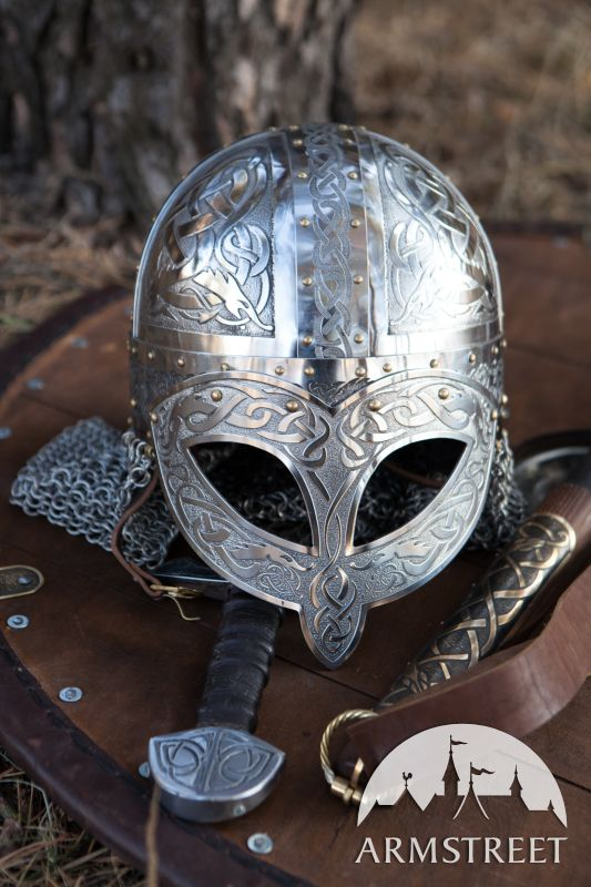 Wikinger Kampfhelm aus geätztem Edelstahl (Cool Crafts Shops)