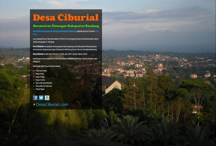 Desa Ciburial's page on about.me