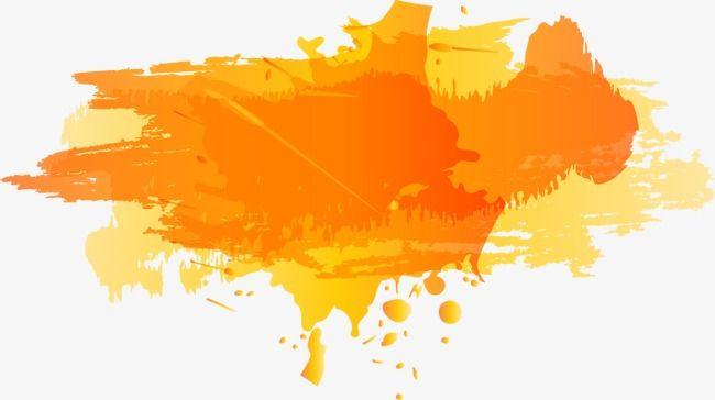 Splash Ink Orange Color Ink Jet Png And Vector With Transparent Background For Free Download Abstract Artwork Ink Graphic Resources