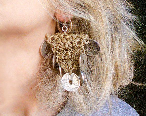 Long dangling silver coin earrings, chandelier ethnic tribal drop earrings, gypsy wedding jewelry, bohemian festival hippie, unique gifts