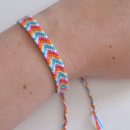 How to Make a Chevron Friendship Bracelet - Dream a Little Bigger