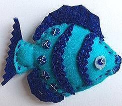 Blue sailing fish