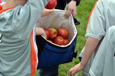 "I really agree.  Kids can play t-ball or go to Sunday school for an hour without juice boxes and crackers.  The term ""healthy snack"" is so confusing, too, because to some, that might mean a sugar-free pudding cup."