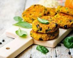 Croquettes de millet aux haricots noirs et courge butternut (facile, rapide) - Une recette CuisineAZ