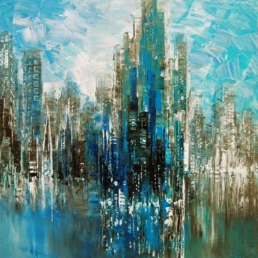 "Saatchi Art contemporary Artist Tatiana Iliina; Painting, ""Urban Oasis"" #art"